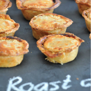 Roast chicken pies