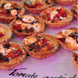 Tomato Goats Cheese and mushroom Tarts