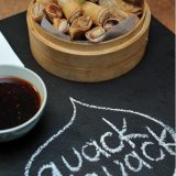 Duck Springrolls with Soy Sauce