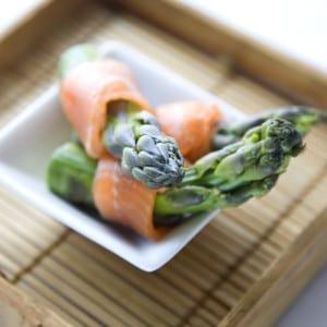 Asparagus Salmon ribbons