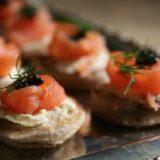 Salmon Blinis Caviar