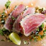 Seared Tuna & Sicilian Bean Salad