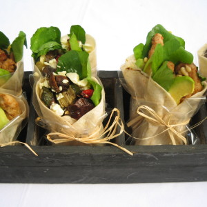 Vegeterian and Chicken Wraps