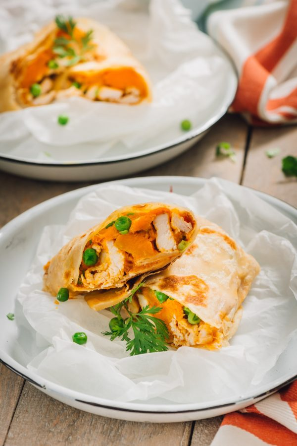 Salomies with a Butter Chicken filling