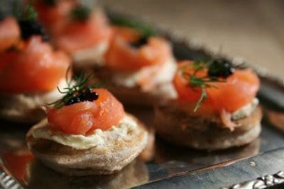 Salmon Blinis Caviar - DishFood