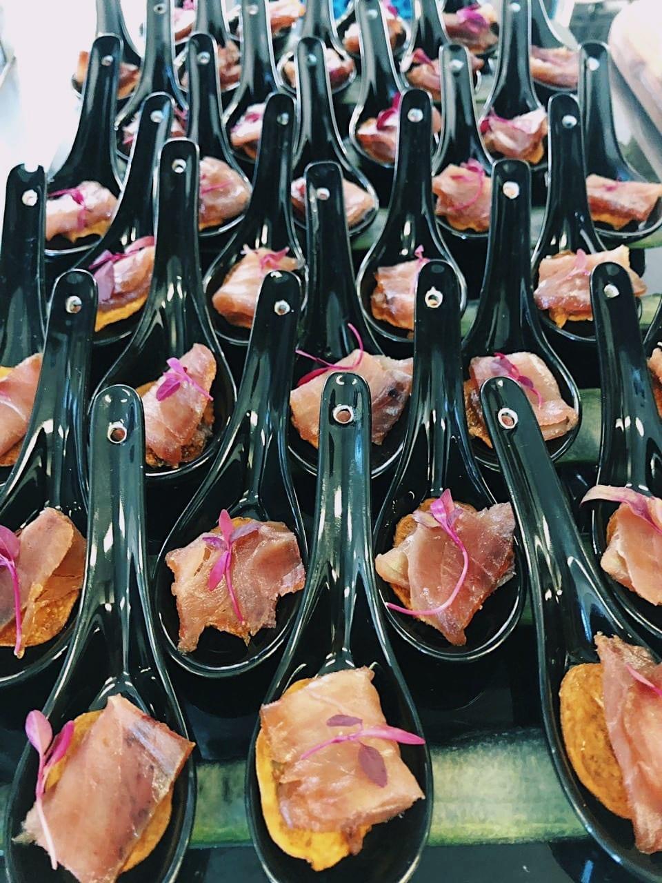 Mojama on Potato Petals - DishFood