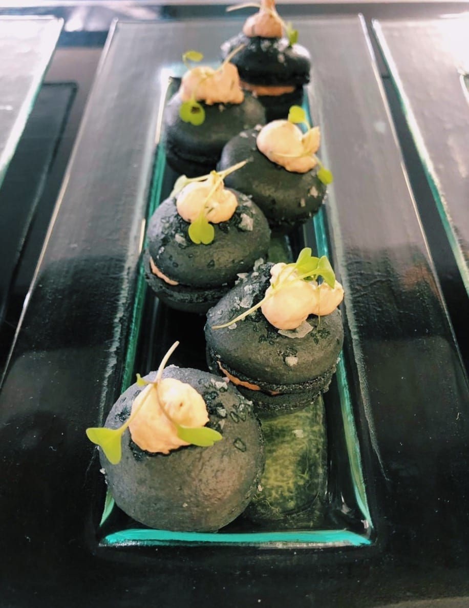 Salmon and Beetroot Macarons - DishFood
